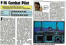 'F-16 Combat Pilot Testbericht'