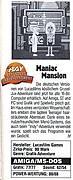 'Maniac Mansion (deutsch) Testbericht'