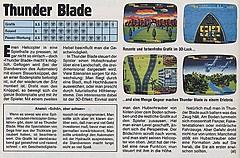 'Thunder Blade Testbericht'